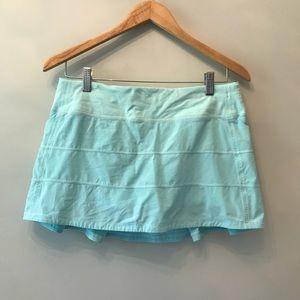 EUC Lululemon Pace Rival Skirt II Blue 8